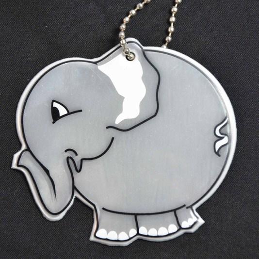 zawieszka odblaskowa słonik