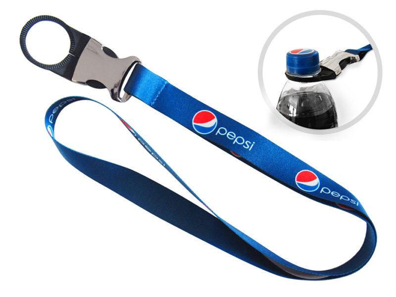 Smycz ze zlaczka do mocowania butelek_Pepsi