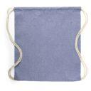 Worek ze sznurkiem z bawełny z recyklingu niebieski