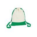 bawelniany worek zielony
