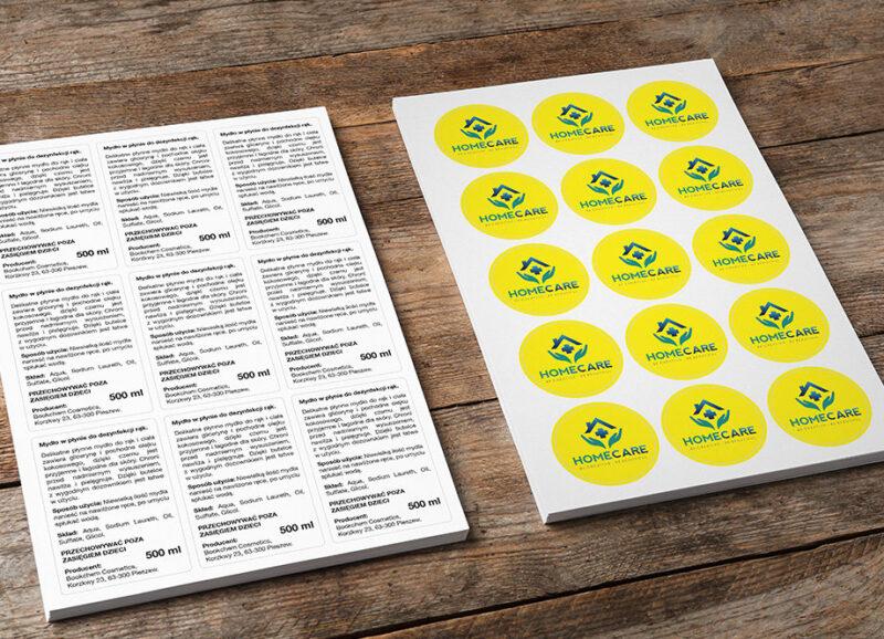 etykiety papierowe na a4