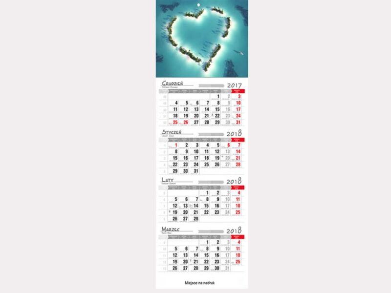 kalendarz czterodzielny