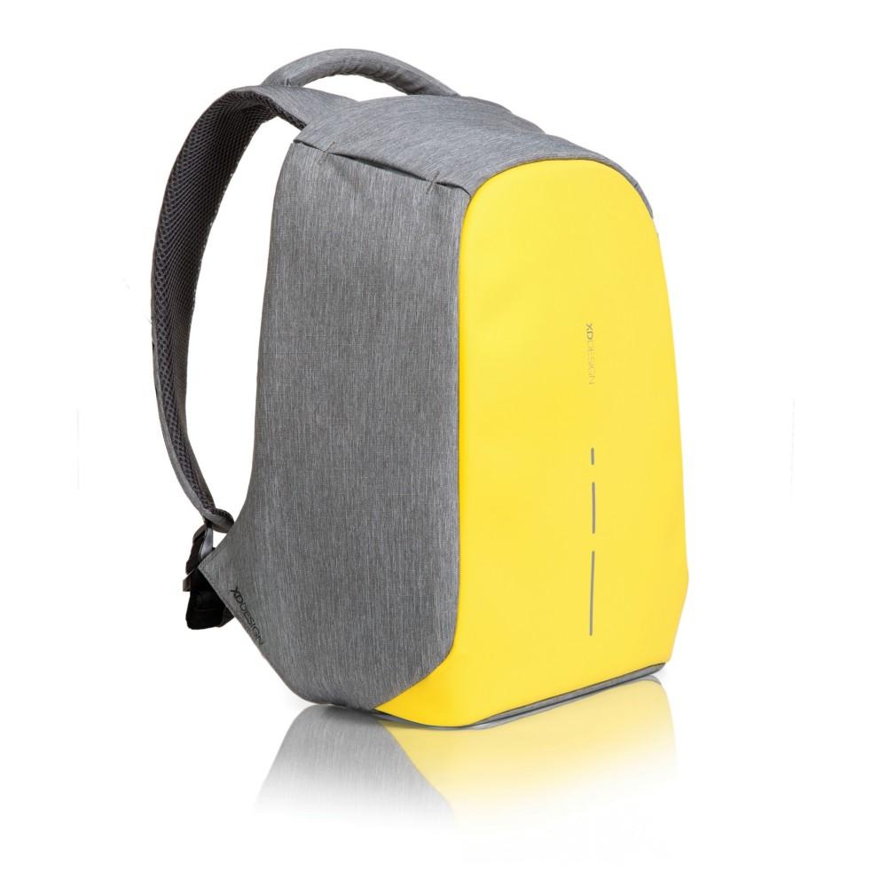 plecak chroniący przed kieszonkowcami szaro-zolty
