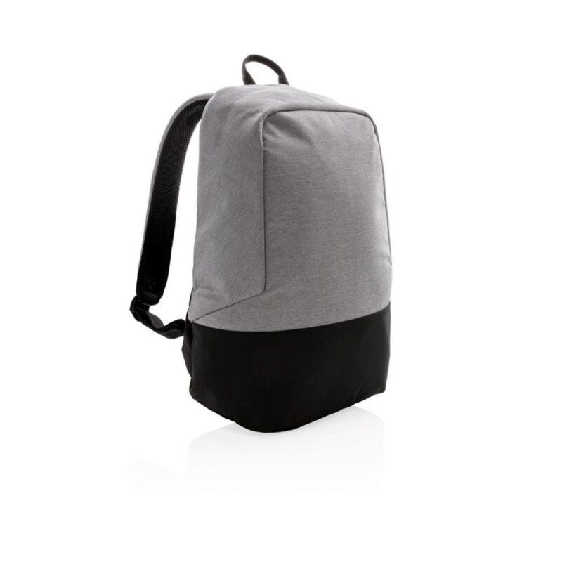 plecak chroniący przed kieszonkowcami szary