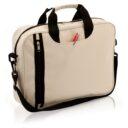 torba na laptopa bezowa