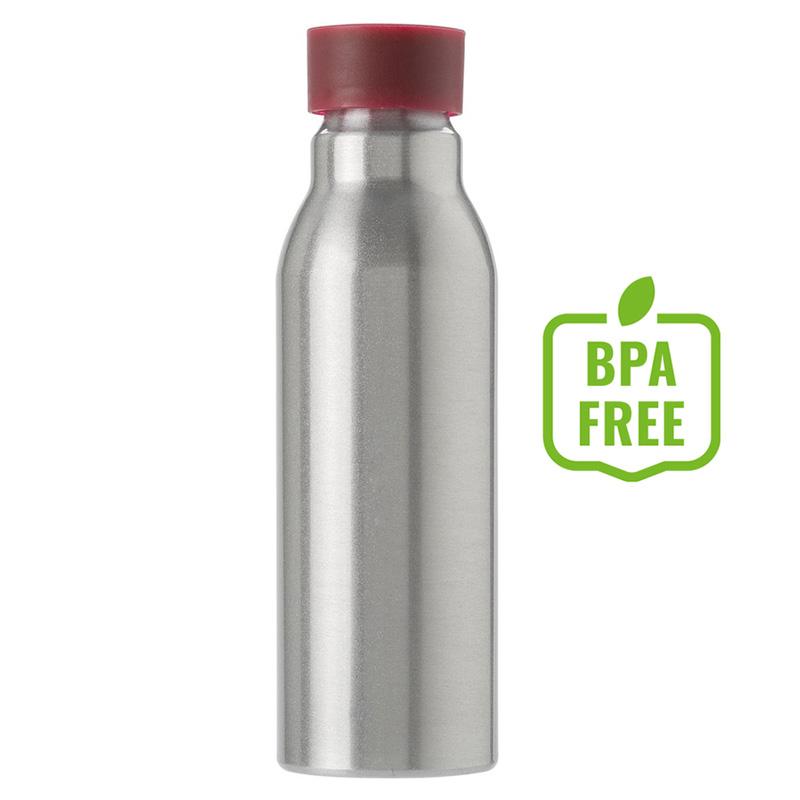 Butelka sportowa 600 ml czerwona zakrętka