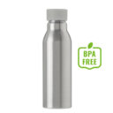 Butelka sportowa 600 ml szara zakrętka