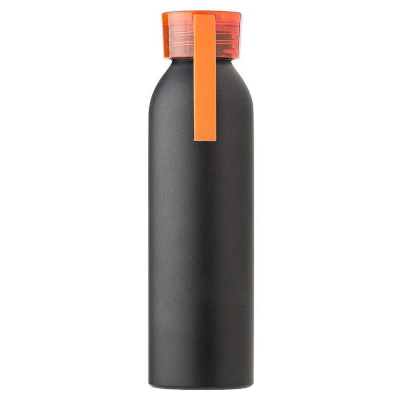 Butelka sportowa 650 ml z uchwytem pomarańczowa