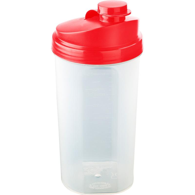 Butelka sportowa 700 ml, shaker czerwona