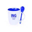 kubek easy biało-niebieski z logo