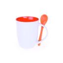 kubek easy biało-pomarańczowy