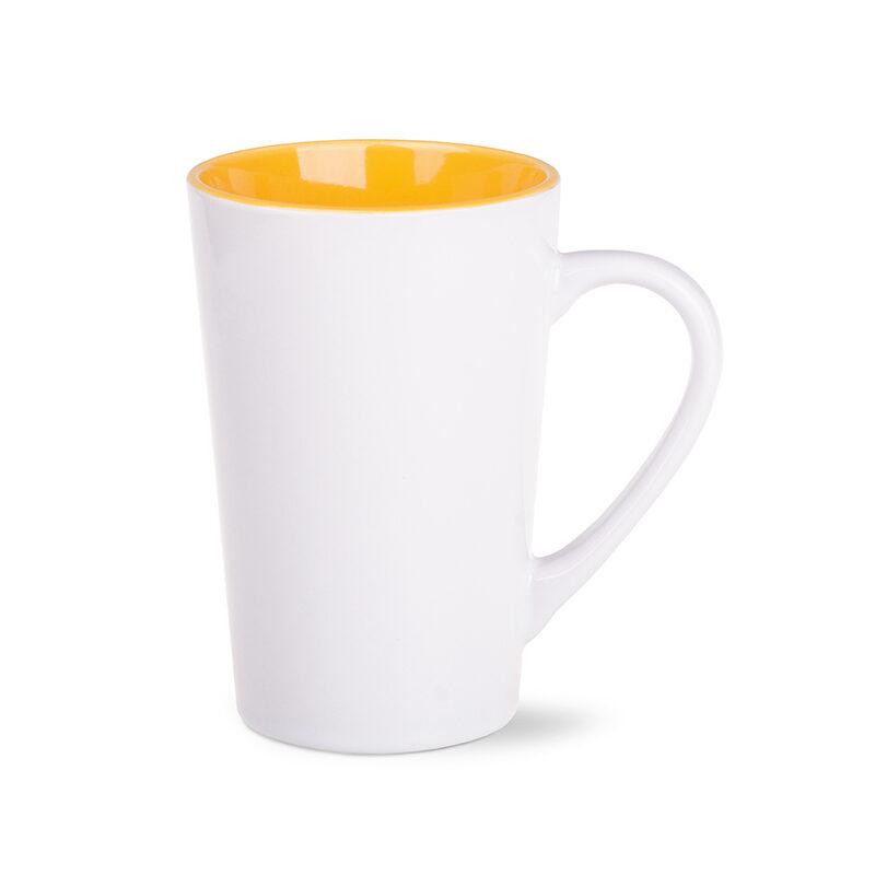 kubek fresh biało-żółty