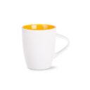 kubek joy biało-żółty