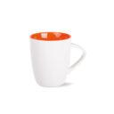 kubek joy biało-pomarańczowy