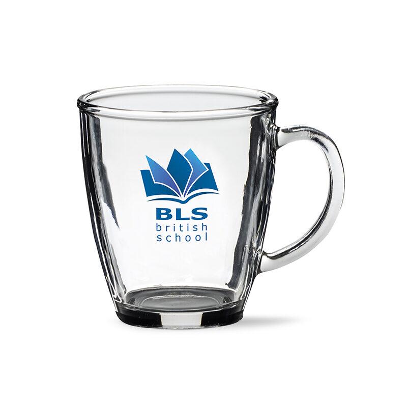 kubek szklany bell logo