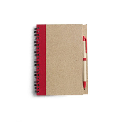 ekologiczny notatnik czerwony