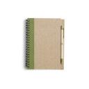 ekologiczny notatnik zielony