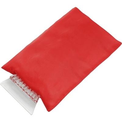 skrobaczka do szyb z rękawiczką czerwona