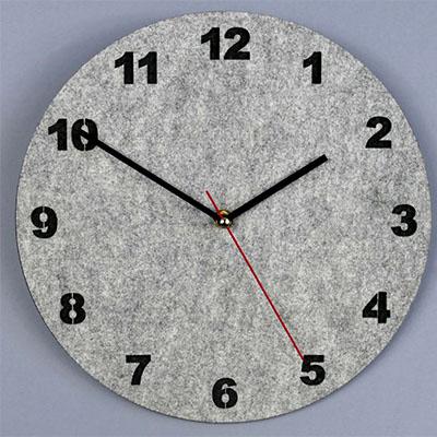 zegar ścienny ekologiczny szary