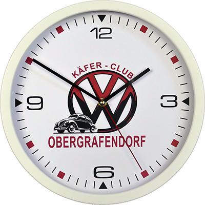 zegar ścienny reklamowy biały VW