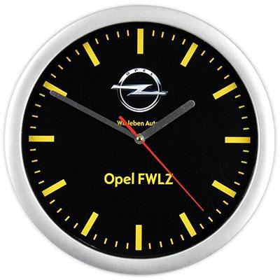 zegar ścienny reklamowy srebrny