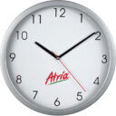 zegar ścienny srebrny