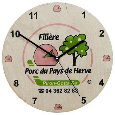 zegar ścienny z sklejki