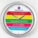zegar reklamowy ścienny srebrny 3
