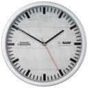zegar scienny reklamowy srebrny