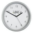 zegar scienny reklamowy srebrny 2